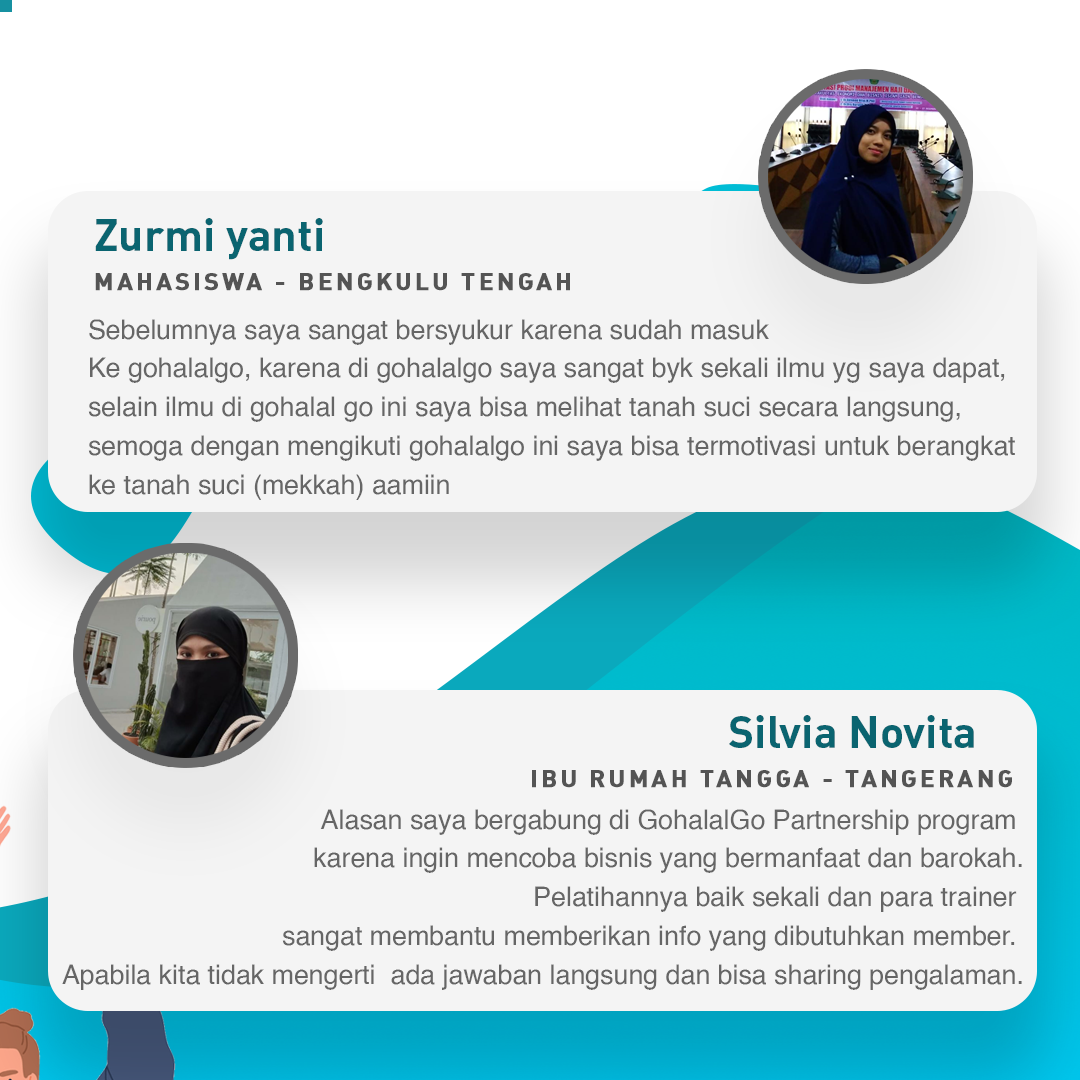 Testimonial GohalalGo Partnership - Peluang Usaha Yang Menguntungkan -Reseller Muslim