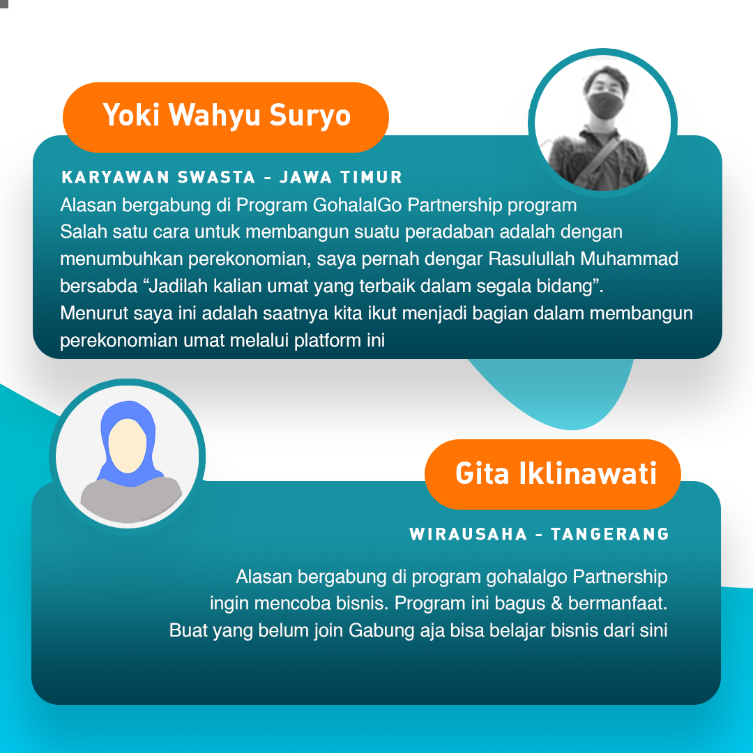 Testimonial GohalalGo Partnership - Peluang Usaha Yang Menguntungkan - Reseller Muslim